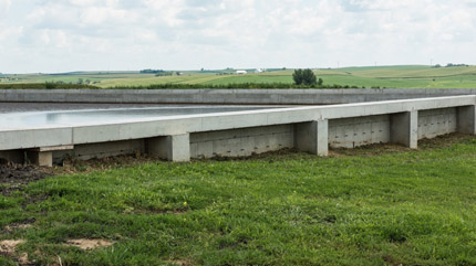 Concrete manure lagoon